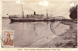 ANGOLA - LOBITO -- VAPOR LOURENCO MARQUES AVEC TAMPON PAQUEBOT LEOPOLDVILLE COURRIER HAUTE MER - Angola