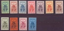 Martinique N° 12 à 22** Taxe - Martinique (1886-1947)