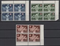 1957. Rép. Du Congo. COB N° 341/43 (en Blocs De 4) **, MNH. Cote 2018 : 16 € - 1947-60: Neufs