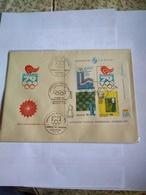 Uruguay Fdc Souvenir S Imperf Chess Olímpica Moscow Moscú 80 Bloc 31 Yvert Catalogue Rare With 3 Pmks Of Philatelic Show - Verano 1980: Moscu