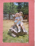 Young Girls Riding Aldabra Giant Tortosie   West Orange NJ  Ref 3739 - Autres