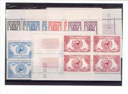 LAOS - TP BLOCS DE 4 COINS DATES - TP N°33/36 - PA N° 22/23 - XX - 1956 - Laos