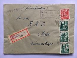 GERMANY 1949 Cover Registered Neuerburg To Trier - Zona Sovietica