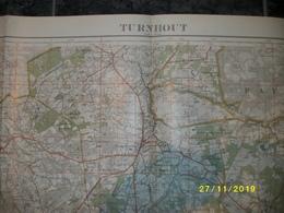 Topografische / Stafkaart Van Turnhout (Wuustwezel - Loenhout - Minderhout - Hoogstraten - Wortel - Rijkevorsel) - Cartes Topographiques