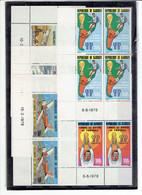 DJIBOUTI - TP BLOCS DE 4 COINS DATES XX - PA N°116/118 - 121/122 - 1978 - Yibuti (1977-...)