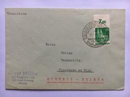 GERMANY 1949 Cover Bad Homburg Handstamp To Kussnacht Am Rigi Switzerland - Zone Anglo-Américaine