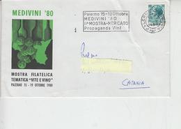ITALIA  1980 - Annullo Speciale - Vino - Medivini - Palermo - Vini E Alcolici