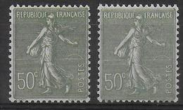 1924 - YVERT N° 198 TYPE I + II ** MNH - COTE = 28.5 EUR. - SEMEUSE - France