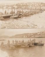2 CARTE PHOTO:ALLEMAGNE COBLENCE MILITAIRES 12ème GÉNIE DANS BARQUE CONSTRUCTION PONT AOÛT 1924 - Autres