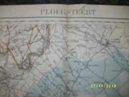 Topografische / Stafkaart Van Ploegsteert (Nieppe - Tourcoing - Roubaix - Lille - Fleurbaix - Aubers) - Cartes Topographiques