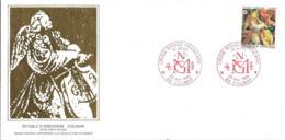 Grande Env Fdc France+feuille D'or, 23/11/85 Colmar, N°2392 Yt, Retable D'issenheim, Croix Rouge - FDC
