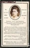 FAIRE-PART DE DECES Madame Paul Levesque Outhenin-chalandre IMAGE PIEUSE BOUASSE-LEBEL - Esquela