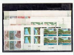 CAMBODGE - TP BLOCS DE 4 COINS DATES - TP N°112/113 - 114/118 - 119/121 - 128 - 132/134 - 136/138 - XX - 1961 - Camboya