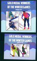 Liberia 2014 Gold Medals Winners Olympic Games Sochi 2 Bl. S/S MNH - Liberia