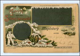 U8952/ Halt Gegen Licht Litho AK Magdeburg  Neujahr 1898 - Halt Gegen Das Licht/Durchscheink.