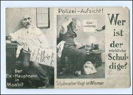 Y14452/ Schumacher Voigt In Wismar  Hauptmann Von Köpenick 1908 - Duitsland