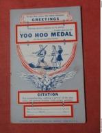 Citation-- Yoo Hoo Medal    Ref 3739 - Humour