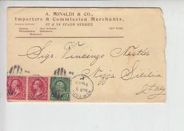 STATI UNITI 1899 - Lettera Per Italia - 1847-99 General Issues