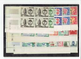 CAMBODGE - TP BLOCS DE 4 COINS DATES - TP N°92/100 - 104/106 - 110/111 - XX - 1960 - Camboya