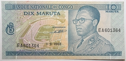 Congo (RD) - 10 Makuta - 1968 - PICK 9a.2 - SPL - Congo