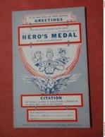 Citation--Hero's Medal  Ref 3739 - Humour