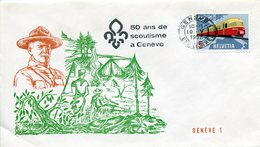 THEMATIQUE SCOUTISME SUISSE-HELVETIA 1962 FDC- 50 ANS GENEVE - Storia Postale
