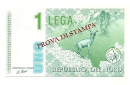 Italia - Lega Lombarda - 1 Lega - Prova Di Stampa - Italia