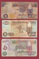 Zambie 3 Billets Dans L 'état Lot N °1---(46) - Zambia