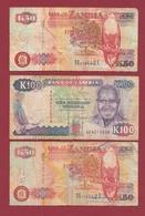Zambie 3 Billets Dans L 'état Lot N °2---(47) - Zambia