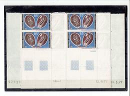 AFARS ET ISSAS - BLOCS DE 4 COINS DATES - TP N°443/444 - XX - 1977 - Afars Y Issas (1967-1977)