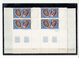 AFARS ET ISSAS - BLOCS DE 4 COINS DATES - TP N°443/444 - XX - 1977 - Afar- Und Issa-Territorium (1967-1977)