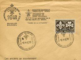 THEMATIQUE SCOUTISME BELGIQUE 1962 LETTRE-BRUSSEL - Scouting