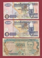 Zambie 3 Billets Dans L 'état Lot N °3---(48) - Zambie