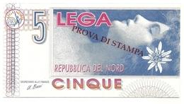 Italia - Lega Lombarda - 5 Lega - Prova Di Stampa - Italia