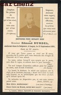 FAIRE-PART DE DECES EDMOND BURDEL LAGNY-SUR-MARNE SEINE-ET-MARNE 77 IMAGE PIEUSE - Décès