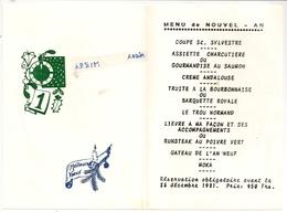MENU - Nouvel-An, 1981 - Menus