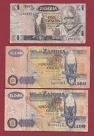 Zambie 3 Billets Dans L 'état Lot N °4---(49) - Zambia