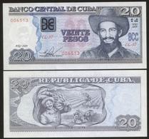 Cuba 20 Pesos 2009  Pick 122 UNC - Cuba