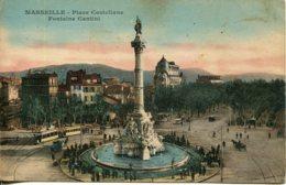 CPA - MARSEILLE - PLACE CASTELLANE - FONTAINE CANTINI - Otros
