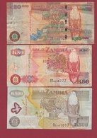 Zambie 3 Billets Dans L 'état Lot N °6---(51) - Zambia