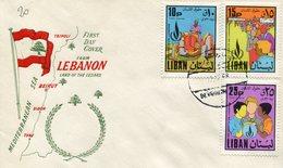 THEMATIQUE SCOUTISME LIBAN-LEBANON 1968 FDC - Scouting