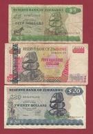 Zimbabwe 3 Billets Dans L 'état Lot N °4---(55) - Zimbabwe