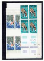 AFARS ET ISSAS - BLOCS DE 4 COINS DATES - TP N°416/418 - 419 - 420/421 - XX - Afar- Und Issa-Territorium (1967-1977)