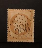 Empire Dentele No 21, 10 C Bistre Obl GC 586 De BOURRON, Seine Et Marne,  Indice 6, Belle Frappe TB - 1862 Napoléon III.