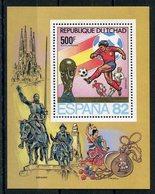 RC 14652 TCHAD COUPE DU MONDE DE FOOTBALL ESPAGNE 1982 BLOC FEUILLET NEUF ** MNH TB - Tschad (1960-...)