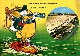 CPM Par Le Petit Bout De La Lorgnette, Je Vois... Royan - Walt Disney - Royan