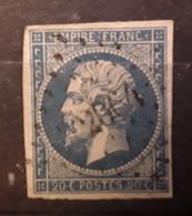 Empire No 14 A Obl Pc 2064 De MONTAUBAN DE BRETAGNE,  Ille Et Vilaine ,  Indice 8 , Belle Frappe , TB - 1853-1860 Napoléon III