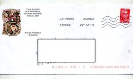 Lettre Flamme Chiffree Sur Gandon 0.54 - Poststempel (Briefe)