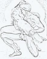 PHOTOCOPIE DE DESSIN EROTIQUE AMATEUR  FORMAT A4 . 21/27 - Drawings