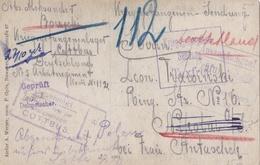 Divers Cachets De Censure Et Du Camp De Cottbus Sur Carte Photo D'un Soldat Allemand - Postmark Collection (Covers)